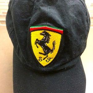 Vintage New Unused Black Classic Ferrari Cap